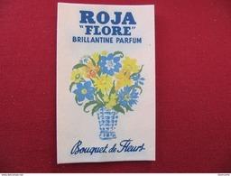 CARTE PARFUMEE - ROJA FLORE - BRILLANTINE PARFUM - BOUQUET DE FLEURS - Format : 8,5 X 5,5 Cm - Cartes Parfumées