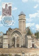 D36007 CARTE MAXIMUM CARD 1970 BELGIUM - ABBEY ORVAL CP ORIGINAL - Abbazie E Monasteri
