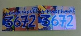 Dépliant France Télécom : Memophone 3672 (format Télécarte) - Cinéma