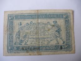0.50 F TRESORERIE AUX ARMEES TYPE 1917 SERIE B - Treasury