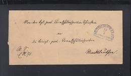 Bayern Faltbrief Höchstädt 1874 - Bayern (Baviera)