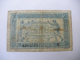 0.50 F TRESORERIE AUX ARMEES TYPE 1917 SERIE C - Trésor