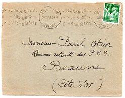 LOIRET - Dépt N° 45 = ORLEANS GARE 1939 = FLAMME  MILITARIA =  KRAG  ' Souscrivez Bons Armement' - Marcophilie (Lettres)