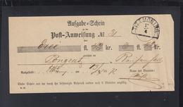 Bayern Aufgabeschein Tittmoning 1872 - Bayern (Baviera)