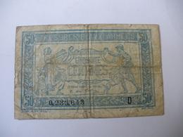 0.50 F TRESORERIE AUX ARMEES TYPE 1917 SERIE D - Trésor
