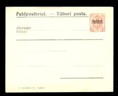 AUSTRIA, BOSNIA AND HERZEGOVINA - Mi.No. U3, With Overprint Feldpostbrief-Tabori Posta And Portofrei / 2 Scans - Autriche