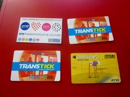 ESITERIOPHILIE 4 Tickets De BUS Et MÉTRO MARSEILLE RTM TITRE TRANSPORT Marseillais-Trip-,Billet,Biglietto,Eintrittskarte - Metropolitana