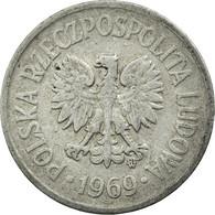 Monnaie, Pologne, 10 Groszy, 1969, Warsaw, TB+, Aluminium, KM:AA47 - Pologne