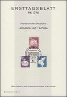 ETB 19/1975 Industrie Technik: Triebzug, Hubschrauber - FDC: Feuilles