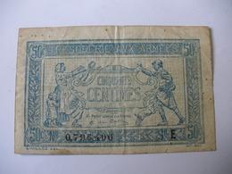 0.50 F TRESORERIE AUX ARMEES TYPE 1917 SERIE E - Treasury