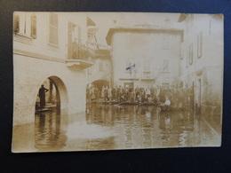 Mandello Del Lario- Anni '20-Il Lago In Piazza- Foto Originale - Lecco
