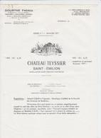PUB - SAINT EMILION - CHATEAU TEYSSIER - VIGNORET ST EMILION - DOURTHE Fr. 1977 - Alcools