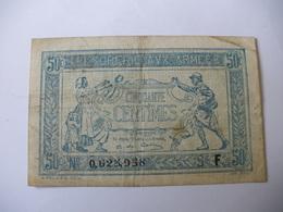 0.50 F TRESORERIE AUX ARMEES TYPE 1917 SERIE F - Treasury