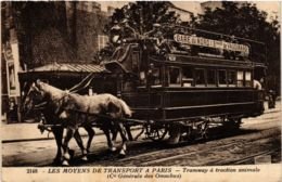 CPA PARIS Tramway A Traction Animale (574517) - Public Transport (surface)
