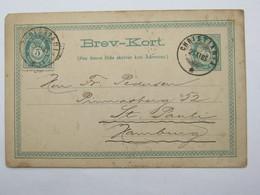 1885 , Ganzsache Nach Deutschland Verschickt - Norwegen