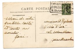 LOIRET - Dépt N° 45 = ORLEANS GARE ? 1924 = FLAMME TEMPORAIRE = DAGUIN 'FOIRE EXPOSITION ' + CP HOTEL COMPAING - Marcophilie (Lettres)