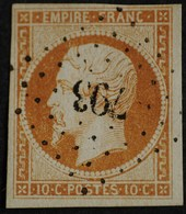 NAPOLEON III 1854 .n°13 A Type I  Obl.PC  793 CHATEAUNEUF-S-SARTHE.( Ind 5 ) - 1853-1860 Napoleon III