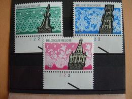 Belgique. 2315/17** Avec Divers Numéros De Planche. Dentelles De Bruges, Marche En Famenne Et De Bruxelles - 1981-1990
