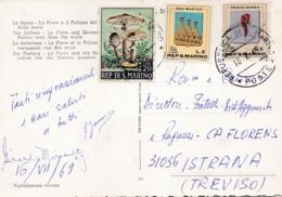 SAINT MARIN  SAN MARINO  : Divers Sur Carte Postale De La Forteresse - Lettres & Documents