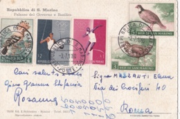 SAINT MARIN  SAN MARINO  : Divers Sur Carte Postale Du Palais De Gouverneur Et De La Basilique - Lettres & Documents