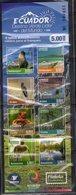 ECUADOR, 2018, MNH, GREEN DESTINATION,  FROGS, BIRDS, SEALS, MONKEYS, AMAZON, THE ANDES, BOOKLET - Reptiles & Amphibians