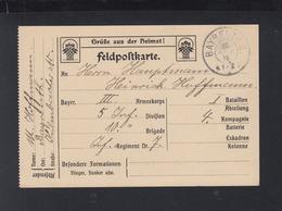 Bayern Feldpost 1916 Bayreuth - Bayern