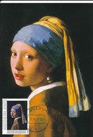 D36025 CARTE MAXIMUM CARD 2011 NETHERLANDS - GIRL WITH A PEARL EARRING BY VERMEER CP ORIGINAL - Künste