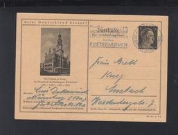 Dt. Reich Bild-PK Rathaus Zu Posen 1944 Gelaufen - Briefe U. Dokumente