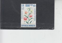 INDONESIA  1966 - Yvert 472 - Fiori - Indonesia
