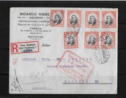 1928 Chile R-Brief Osorno Santiago Hamburg - Chili