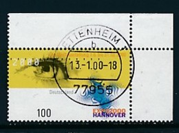 GERMANY Mi. Nr. 2089 Weltausstellung EXPO 2000, Hannover - Eckrand Oben Rechts - Used - [7] République Fédérale