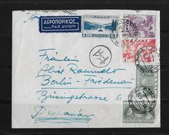 1939 Griechenland Luftpost-Brief, Athen - Berlin - Poste Aérienne
