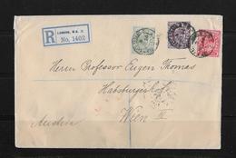 1910 Grossbritannien, R-Brief London - Wien Österreich - 1902-1951 (Rois)