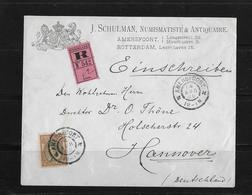 1900 Niederlande, R-Brief Amersfoort - Hannover - Periode 1891-1948 (Wilhelmina)