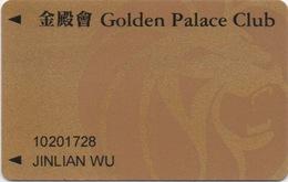 Carte De Membre Casino : MGM Grand Macau Macao : Golden Palace Club 金殿會 - Cartes De Casino