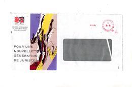 Lettre Cachet Etoile Port Paye Paris D  Illustré Edition Droit Patrimoine - Storia Postale