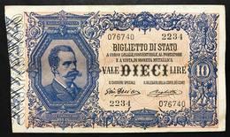 10 LIRE VITTORIO EM. III° 11 10 1915 RARA Q.spl Naturale  LOTTO 1678 - Italia – 10 Lire