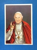 SANTINO HOLY CARD FORMATO CARTOLINA SS GIOVANNI XIII PONTEFICE MASSIMO ED G MI - Santini