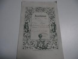 Limoges, INSTITUTION BONY Et VILLENEUVE, 1858, 1er Accessit, 2eme Classe - Diplômes & Bulletins Scolaires