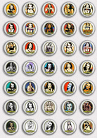 35 X The Munsters LILY Movie Film Fan ART BADGE BUTTON PIN SET 2 (1inch/25mm Diameter) - Films