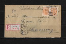1899 Finnland R-Brief Lovisa - Manninka - 1856-1917 Administration Russe
