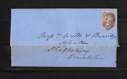 1857 Grossbritannien, Brief Salisbury - Shaftsbury - Lettres & Documents