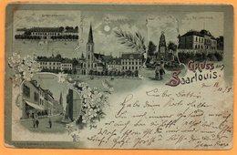 Gruss Aus Saarlouis Germany 1898 Postcard - Kreis Saarlouis