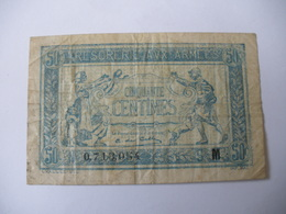 0.50 F TRESORERIE AUX ARMEES TYPE 1917 SERIE M - Treasury