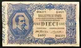 10 LIRE VITTORIO EM. III° 11 10 1915 RARA Q.spl Naturale  LOTTO 389 - Italia – 10 Lire