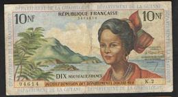 ГАЙАНА  МАРТИНИКА ГВАДЕЛУПА  10 FRANCS  1964 - Guyana