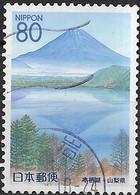 JAPAN (YAMANASHI PREFECTURE) 1999 Five Lakes, Fuji - 80y - Trees, Lake, Hills And Mountain FU - 1989-... Emperador Akihito (Era Heisei)