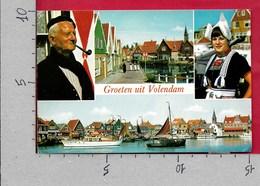 CARTOLINA VG PAESI BASSI - Groeten Uit VOLENDAM - Vedutine Multivue - 10 X 15 - ANN. 1977 - Saluti Da.../ Gruss Aus...