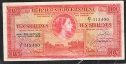 BERMUDAS 10 SHILLINGS   1952 - Bermudas