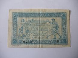 0.50 F TRESORERIE AUX ARMEES TYPE 1917 SERIE P - Trésor